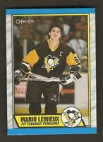 1989-90 OPC O-Pee-Chee MARIO LEMIEUX #1 NM-MT Hockey Pittsburgh Penguins HOF