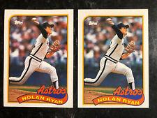 New listing (2) 1989 Topps #530 NOLAN RYAN Houston Astros Lot