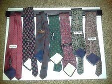 Huge Lot of 7 Silk Ties: Brooks Bros Makers, Harve Benard & others
