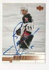 00/01 Upper Deck Autographed Hockey Card Jay McKee Buffalo Sabres