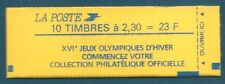 Carnet 10 timbres Briat 2.30 rouge N°2614-C7 Jeux olympiques d'hiver neuf**