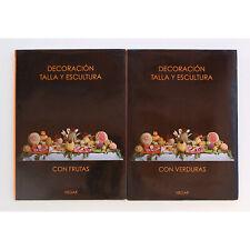 Decoracion Talla y Escultura Frutas y verduras Hegar Cocina 2 Tomos Gastronomia