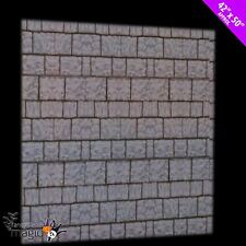 "Halloween Stone Brick Wall Cover Party Display Scene Setter Decoration 42"" x 50"""