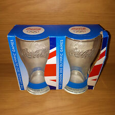 McDonalds Coca Cola 2012 London Olympic Games Glasses x 2 BNIB Twin Pack