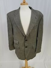 Ralph Lauren Mens Gray Blazer Sports Coat Jacket 2 Button Fishbone Size 44R