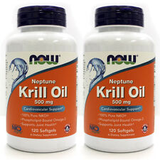 Neptune Krill Oil 500 mg 120 Softgels (Pack of 2!) - NOW Foods