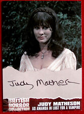 BRITISH HORROR COLLECTION - JUDY MATHESON, Amanda - LUST FOR A VAMPIRE Autograph