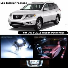 12PCS Cool White Interior LED Bulbs Package Kit for 2013-2015 Nissan Pathfinder