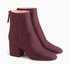 BNIB NEW J.CREW made rachel Sadie Ankle Boots Silk Tie Print comey Trim well 6.5