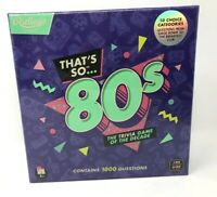 Ridley's That's So 80s Team Trivia Set Game for Families, Groups, and Parties
