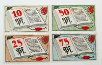 BRAUNSCHWEIG NOTGELD 10, 25, 50, 75 PFENNIG 1921 NOTGELDSCHEINE (10694)