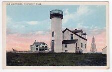 OLD LIGHTHOUSE Light NANTUCKET ISLAND Massachusetts PC Postcard BRANT POINT