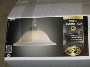 Hampton Bay Aegean Stone SWAG Pendant hanging Lamp