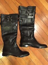 COACH CAYDEN BLACK LEATHER EQUESTRIAN KNEE HIGH BOOTS 6