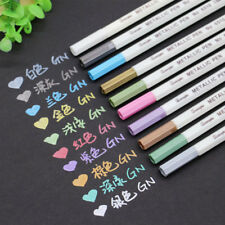 10Pcs Drawing Painting Markers Pens Black Paper Use Art Pens Signature Pens