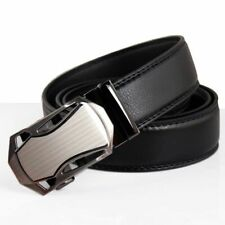 Steel PU Leather Mens Belts Automatic Buckle Fashion Belts For Men Business