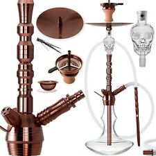 DILAW® RUBIN Shisha Edelstahl Set Hookah Komplettset Wasserpfeife Molassefänger