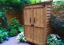4' x 2' Garden Chalet Cedar Storage Shed