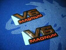 DODGE RAM DAKOTA DURANGO TRUCK VAN V6 MAGNUM EMBLEM BADGE DECAL OEM x2 NEW!