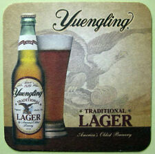 YUENGLING Beer COASTER, Mat with EAGLE, Bottle, Glass, Pottsville, PENNSYLVANIA