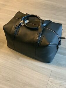 Cole Haan Pebbled Leather Duffle BNWT Black $498