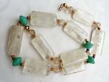 Gorgeous old Himalaya Rock Crystal Beads necklace, Nepal Rock Crystal Beads OOAK