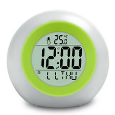 Baldr Color Changing Alarm Clocks with Colorful Backlight Change, Temperature an