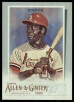 2020 Topps Allen and Ginter Hot Box Silver SP #324 Lou Brock