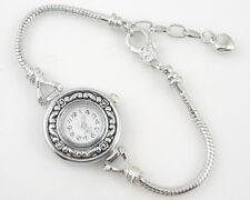 "5 Charm Watch Style Bracelet F/European Bead 7.86"" WP5"