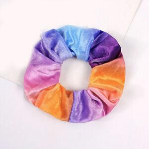 Fashion Women Colorful Candy Velvet Hair Scrunchies Cute Hair Band Girl Hair Tie