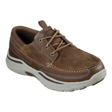 Skechers Para Hombre Calce Zapatos Náuticos realizado Menson Relaxed