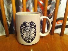 Griffith Security in Hickory North Carolina badge logo Vintage Coffee mug Cup NC