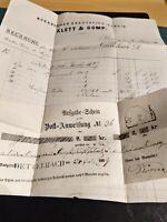 Bayern Kreuzer-Brief 3 Kr. (15)/Post-Aufgabeschein/Rechung von Klett & Comp 1869