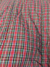 Ralph Lauren multicoloe rare Plaid Full Queen Comforter 2 shams Shams
