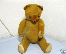 Uralter antiker Teddybär goldbrauner Teddy 5-Gelenk 48 cm Brumm-Ton