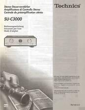 TECHNICS - SU-C3000 - PREAMPLIFIER - USER INSTRUCTIONS OWNER'S MANUAL - DE IT FR