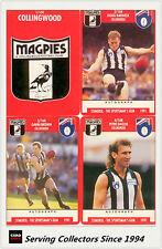 1991 Stimorol AFL Trading Cards Club Team Set Collingwood (11) -- Mint!