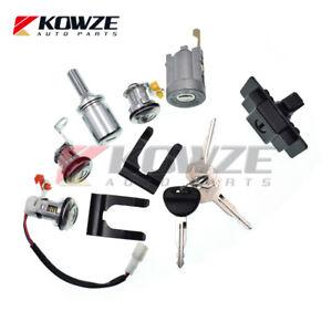 Lock Cylinder & Key Set For Mitsubishi Pajero Montero 2nd 1990-2003