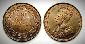 Canada 1918 Large Cent (INV0513) MS-63 Red & Brown!!