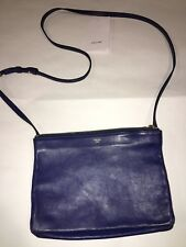 Celine Trio Large Crossbody In Electric Blue Pre-owned