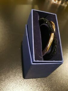 Swarovski Rose Gold and Black Bangle Free Size