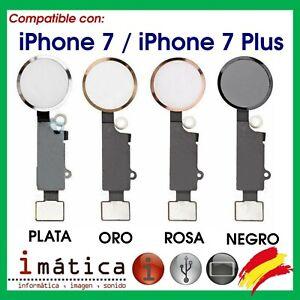 BOTON HOME PARA IPHONE 7 / 7 PLUS + FLEX HUELLA TOUCH ID MENU NEGRO PLATA ORO