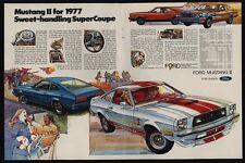 1977 FORD MUSTANG II Hardtop - Cobra II - Mach I Sports Car - VINTAGE AD