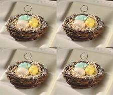 Bethany Lowe 4 Bird Nest Ornament Place Card Holder Easter Spring Set