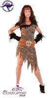 Adult Barbarian Cavewoman Fancy Dress Ladies Costume Size 8 - Plus size 24  AU