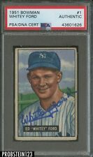 1951 Bowman #1 Whitey Ford RC Rookie HOF PSA Authentic