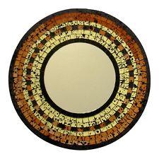 Spiegel met mozaiek aardetinten