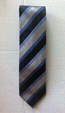 BEN SHERMAN Striped 100% Silk Tie