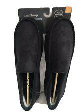West Loop Slippers Black Microfiber, Memory Foam, Rubber Soles Men's L 11-12 NEW