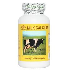 2 x Liquid Milk Calcium Vitamin-D Zinc 600 mg 100 Gels, 6 Months Supply,FRESH